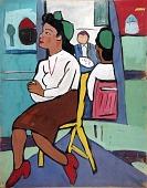 view Art Class--Model in Yellow Chair digital asset number 1