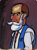 view Bearded Man with Blue Vest digital asset number 1