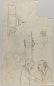 view U.S. Capitol, The White House, Bearded Man, Dr. George Washington Carver and Franklin Delano Roosevelt, and Other Sketches digital asset number 1