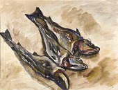 view Still Life with Three Fish digital asset number 1