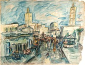 view Kairouan--The Grande Rue and the Mosques digital asset number 1