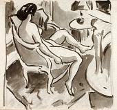 view Seated Female Nude, Side View digital asset number 1