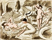 view Group of Nude and Semi-Nude Women digital asset number 1