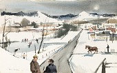 view An American Road in Winter, Vermont digital asset number 1