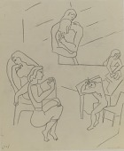 view (Untitled--Tracing of Multi-Figure Group) digital asset number 1