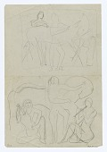 """view Sketch for plaque """"The Dance"""" {rectoA}; (Untitled--Ship Deck) {versoB} digital asset number 1"""