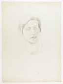 view Woman's Head {recto}; (Sketches of Woman's Head) {verso} digital asset number 1