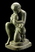 view Kneeling Boy with Bird and Dog digital asset number 1