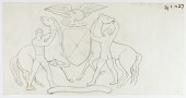 view (Untitled--Eagle and Shield Flanked by Two Horsemen) digital asset number 1