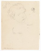 view (Untitled--Child's Head) {recto}; (Equestrian Scene) {verso} digital asset number 1