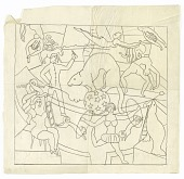 view The Circus (design for tapestry, New York) digital asset number 1