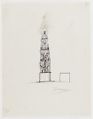 view (Untitled) (study for Monument to Six Million Jews Destroyed in Germany by the Nazis) #6 digital asset number 1