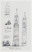 view (Untitled) (study for Monument to Six Million Jews Destroyed in Germany by the Nazis) #7 digital asset number 1