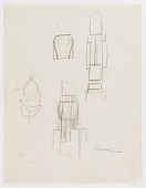 view (Untitled--Menorah) (study for the Monument to Six Million Jews Destroyed in Germany by the Nazis) #10 digital asset number 1