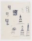 view (Untitled) (study for Monument to Six Million Jews Destroyed in Germany by the Nazis) #13 digital asset number 1