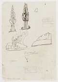 view (Untitled) (study for Monument to Six Million Jews Destroyed in Germany by the Nazis) #14 {rectoA}; (Untitled--Figure with Upraised Arms) (study for Monument to Six Million Jews Destroyed in Germany by the Nazis) {versoB} digital asset number 1