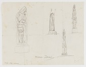 view (Untitled) (study for Monument to Six Million Jews Destroyed in Germany by the Nazis) #15 {rectoA}; (Untitled--Fish on Hook; Female and Hook) {versoB} digital asset number 1