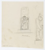 view (Untitled--Seated Rabbi) {recto}; (Untitled--Skull) {verso} digital asset number 1