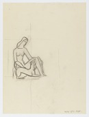 view (Untitled--Female Figure with Dog) digital asset number 1