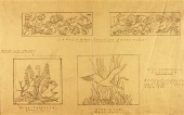 view Flora and Fauna of Maine (drawings for teakwood panels, Roscoe B. Jackson's Library, Michigan) digital asset number 1