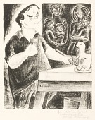 view (Untitled--William Zorach Carving a Cat) digital asset number 1