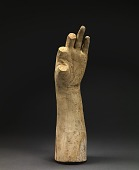 "view Life Cast of Left Forearm and Hand (fragment, study for ""Greek Slave"") digital asset number 1"