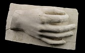 view Cast of an Unidentified Right Hand on a Plaster Base digital asset number 1