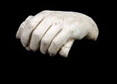 view Cast of an Unidentified Child's Left Hand Grasping a Rod digital asset number 1