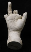 view Cast of an Unidentified Child's Right Hand (first, second and little fingers missing) digital asset number 1