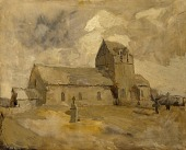 view Village Church and Cemetery, Brittany digital asset number 1