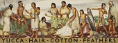 view Yucca, Hair, Cotton, Feathers (mural study) digital asset number 1