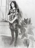 view (Memories, portfolio) Woman with Plant digital asset number 1