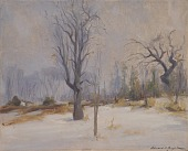 "view ""Winter Morning, Slingerlands, View from the Artist's Studio"" digital asset number 1"