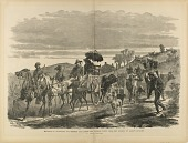 "view Invasion of Maryland, 1864--Driving Off Cattle and Plunder taken from Farmers by Early's Cavalry, from ""The Soldier in Our Civil War"" digital asset number 1"