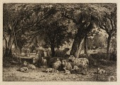 view (Sheep in an Orchard) digital asset number 1