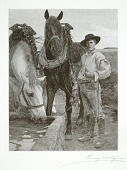 view Horses at the Watering Trough digital asset number 1