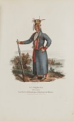 view O'-CHECK-KA or Four Legs; Head Chief of the Winnebagoes of Winnebago Lake Michigan, from the Aboriginal Portfolio digital asset number 1
