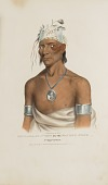 view SHING-GAA-BA-W'OSIN or the Figure's Stone; Chippewa Chief, from The Aboriginal Portfolio digital asset number 1