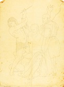 view Moses, Aaron and Hur on Mount Horeb (clothed study) digital asset number 1
