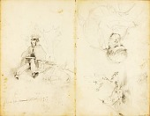 view (Studies--Christ preaching, man with spear, etc.) digital asset number 1