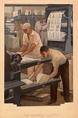 view The Printing Industry (study for mural, Springfield, Ohio Post Office) digital asset number 1