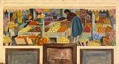 view Harvest of the Rio Grande Valley (mural study, Edinburgh, Texas Post Office) digital asset number 1