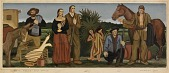 view Early Texans (mural study, Conroe, Texas Post Office) digital asset number 1