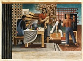 view Security of the People (Study for mural, Old Social Security building, Washington, D. C.) digital asset number 1