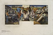 view Cotton Growing, Manufacture and Export (mural study, Dardanelle, Arkansas Post Office) digital asset number 1