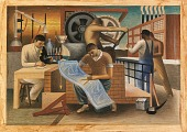 view Industrial Life (mural study, old Social Security Building, Washington, DC) digital asset number 1
