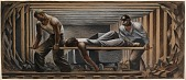 view Mine Rescue (mural study for Kellogg, Idaho Post Office) digital asset number 1