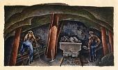 view Mining in Illinois (mural study, Eldorado, llinois Post Office) digital asset number 1