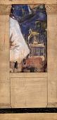 view Untitled (mural study--detail of mock up framed with columns) digital asset number 1