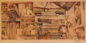 view Mail Carriers of Today (mural study, Stockton, California Post Office) digital asset number 1